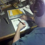 Drawing phones as a live on-air stunt on Off the Hook.