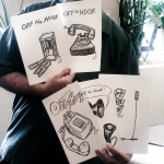 The completed drawings were given to WBAI supporters.